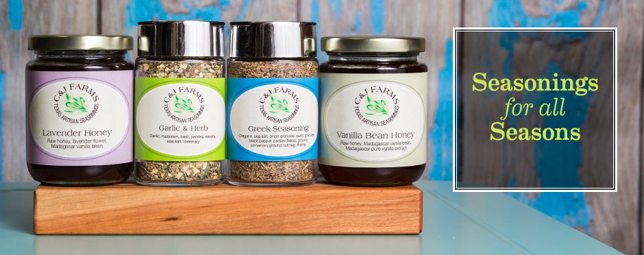 organic handmade seasonings and raw infused honey made in texas