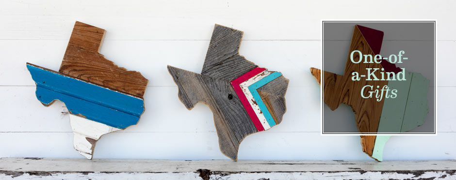 True texas wall hangings created from reclaimed wood by hemlock and heather.