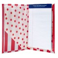 Oilcloth Mini Notebook- Red Stripe thumbnail