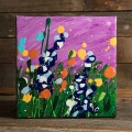 6x6 Wildflower Painting - Fuschia thumbnail