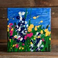 6x6 Wildflower Painting - Blue thumbnail