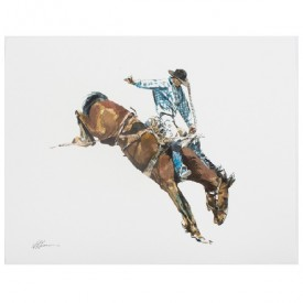 Cowboy Watercolor Print