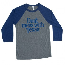 Navy Don't mess with Texas Baseball Tee