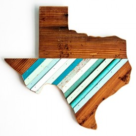A sample wall hanging of the state of Texas