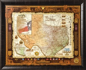 Texas Railroads of 1900 Framed Print