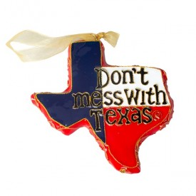 Don't Mess with Texas Cloisonné Ornament