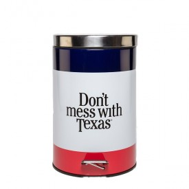 Don't mess with Texas trash can