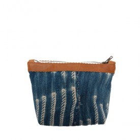 Indigo Leather Pouch