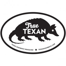 Armadillo True Texan Sticker