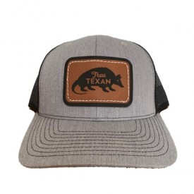 True Texan Leather Armadillo Cap