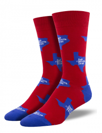Men's Don't mess with Texas State Sock, Red