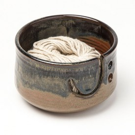 Glazed Clay Yarn Bowl