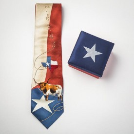 Longhorn Silk Tie in a Box