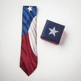 Texas Flag Silk Tie in a Box