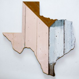 Reclaimed Texas Wall Hanging, #37