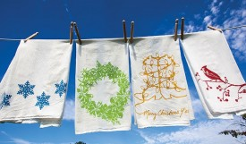 Kimball Prints Holiday Tea Towels
