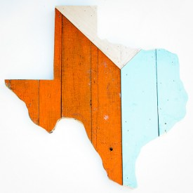 Reclaimed Texas Wall Hanging, #51