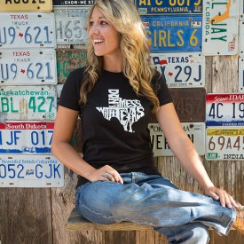 Women's Black Don't mess with Texas Shirt