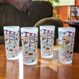 Texas Geo Boxed Drinking Glasses