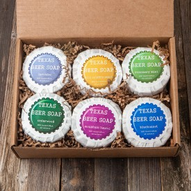 Six-Pack of Texas Beer Soap
