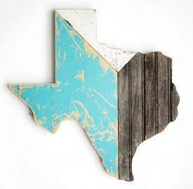 Reclaimed Texas Wall Hanging, #59