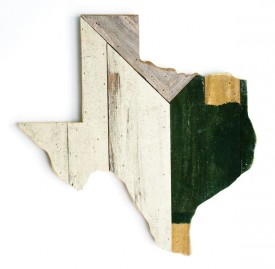 Reclaimed Texas Wall Hanging, #65