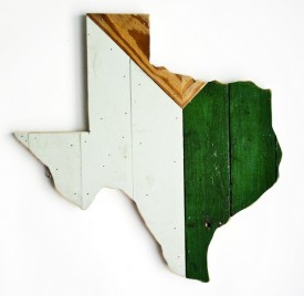 Reclaimed Texas Wall Hanging, #66