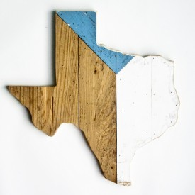 Reclaimed Texas Wall Hanging, #68