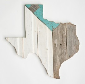 Reclaimed Texas Wall Hanging, #70