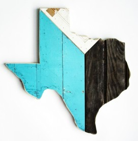 Reclaimed Texas Wall Hanging, #72
