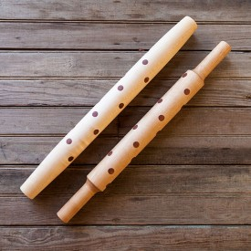 Texas Mesquite Polka Dot Rolling Pin