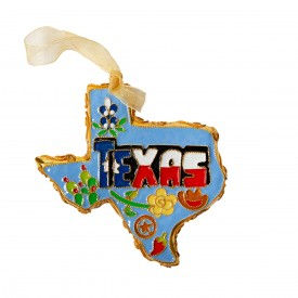 Texas Icons Cloisonne Ornament