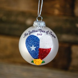 Yellow Rose of Texas Ornament, 2015