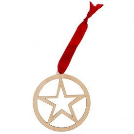 Lone Star Wooden Ornament