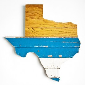 Reclaimed Texas Wall Hanging, #75