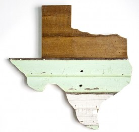 Reclaimed Texas Wall Hanging, #77