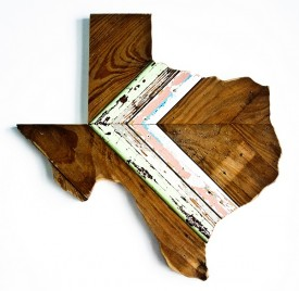 Reclaimed Texas Wall Hanging, #83