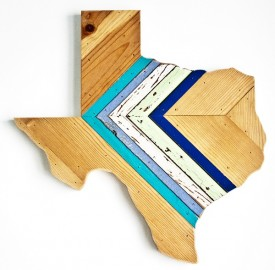 Reclaimed Texas Wall Hanging, #87