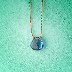 Topaz Teardrop Necklace