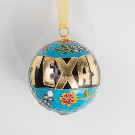 Texas Cloisonne Ornament