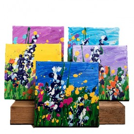 6x6 Wildflower Paintings