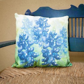 Bluebonnet Pillow in Climaweave