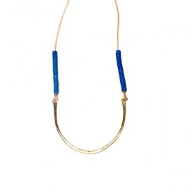 Bronze & Indigo Necklace