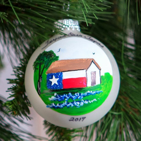 Texas Barn Ornament, 2017