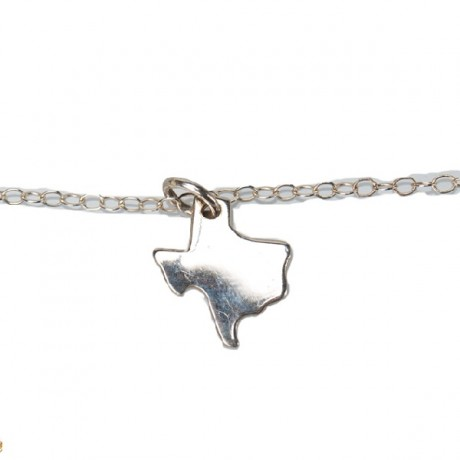 Tiny Texas Necklace- Silver