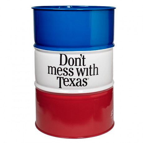 Don't mess with Texas Trash Barrel