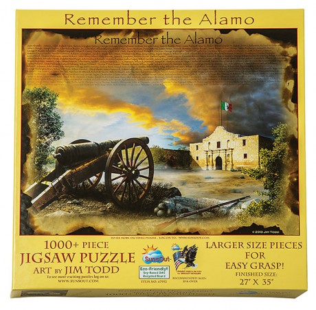 Remember The Alamo Puzzle Texas Highways Mercantile