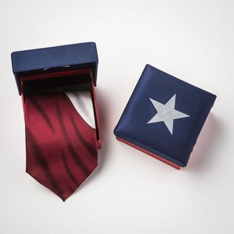 Texas Flag Silk Tie In A Box Texas Highways Mercantile