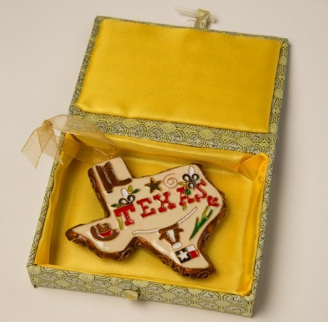 Texas Icons Cloisonne Ornament, 2014