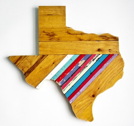 Reclaimed Texas Wall Hanging, #76